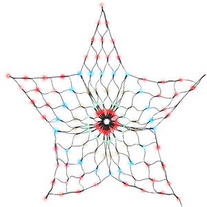Jingle Jollys Christmas Lights Motif LED Star Net Waterproof Outdoor Colourful