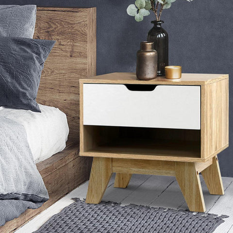 bedside table wood