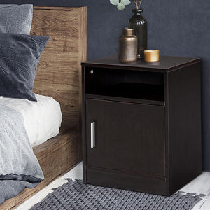 bedside table brown