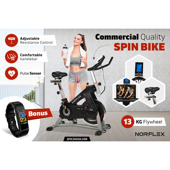 Image of comercial spin bike