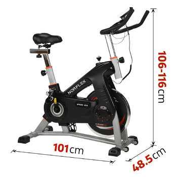 Image of exercise bike dimension