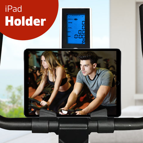 Image of exercise bike ipad holder