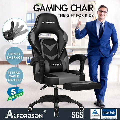 Image of gaming chair grey