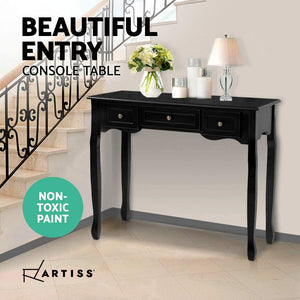 Hallway Console Table Black