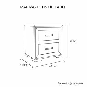 Mariza Bedside Table Saxon Oak