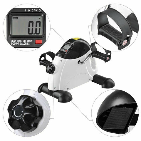 Mini Pedal Exerciser Gym Bike Fitness Exercise Cycle Leg Arm with LCD Display