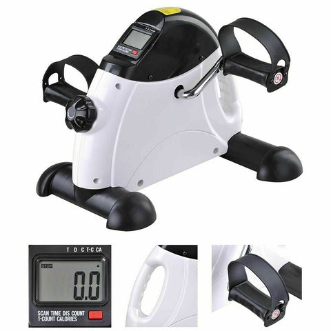 Image of Mini Pedal Exerciser Gym Bike Fitness Exercise Cycle Leg Arm with LCD Display