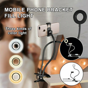 Phone Holder 24 LED - Selfie Ring Light with Cell Phone Stand Holder for Live Stream and Makeup HA