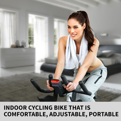 Image of Norflex Spin Bike Exercise Ball Flywheel Fitness Commercial Home Workout Gym White