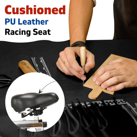 Image of spin bike pu leather seat