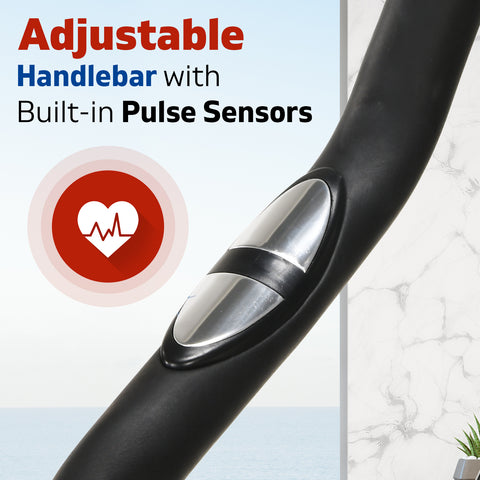 Image of spin bike pulse sensor