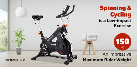 Image of spin bike spinning