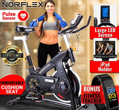 Image of spin exercise bike black