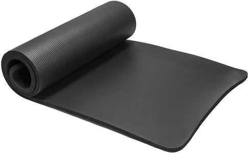 10mm Yoga Mat High Density Anti-Tear - Thick Non-Slip Exercise Mat For Pilates, Fitness, Workout and Stretch with Carrying Strap