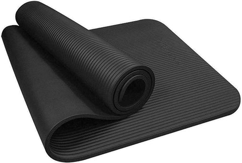 Image of 10mm Yoga Mat High Density Anti-Tear - Thick Non-Slip Exercise Mat For Pilates, Fitness, Workout and Stretch with Carrying Strap