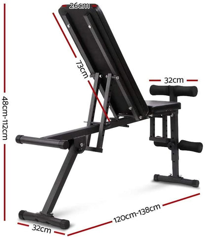 Image of Everfit Adjustable Weight FID Bench Fitness Flat Incline Decline Press Gym Home