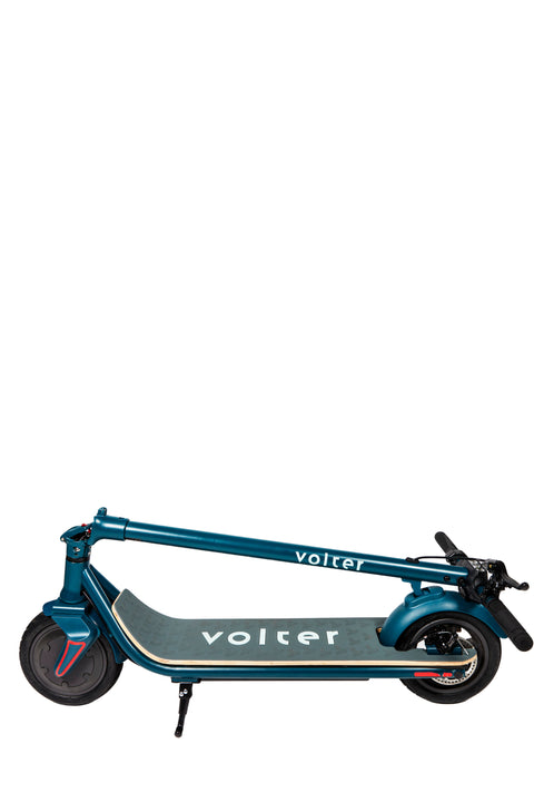 teal folded scooter
