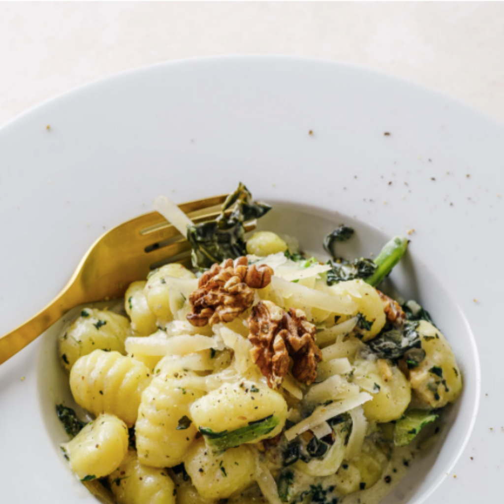 Recipe: Brown Butter Gnocchi with Wakame, Squash & Wild Mushrooms
