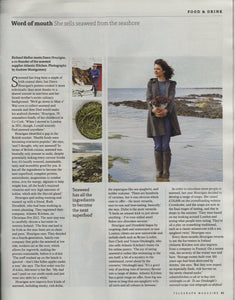 'She sells seaweed', in The Telegraph magazine
