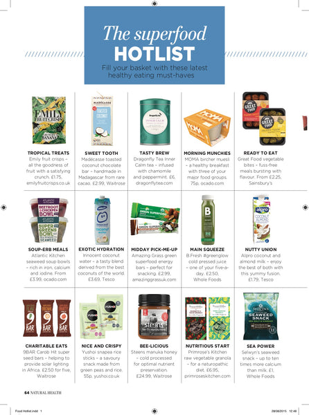 Atlantic Kitchen seaweed in Natural Health Magazine Sept 2015