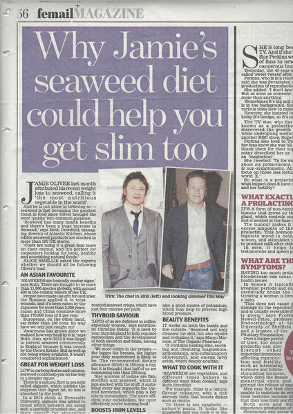 "Daily Mail article on ""Why Jamie Oliver 's seaweed diet could help you get slim too""."
