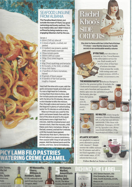 Rachel Khoo shares her foodie secrets in her weekly column in the Daily Mail Weekend Magazine. On 25th July 2015 it featured Atlantic Kitchen's sea spaghetti seaweed!