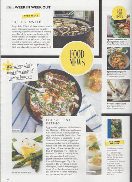 Grazia lists seaweed as their top new tip for 2016!