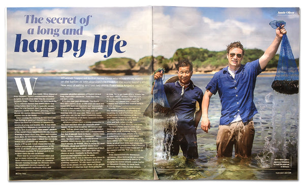 Jamie Oliver reveals that seaweed is 'the secret of a long and happy life' Sunday Times article Sept 2015
