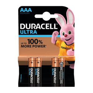 Duracell Ultra Power AAA Batteries (Pack of 4)
