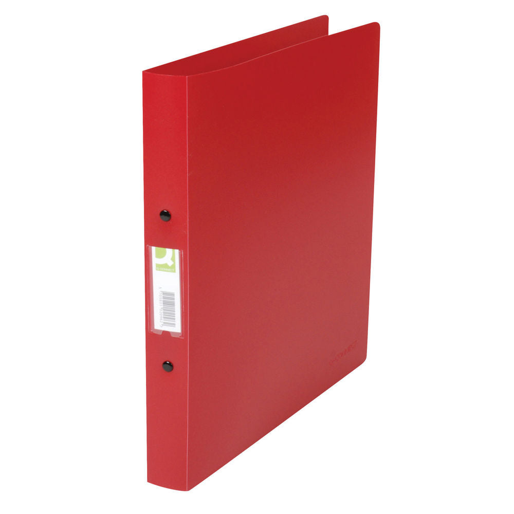 Q-Connect 25mm 2 Ring Binder Polypropylene A4 Red