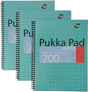 Pukka Pad Ruled Wirebound Metallic Jotta Notebook 200 Pages A4