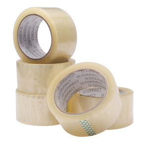 Q-Connect Polypropylene Packaging Tape 50mmx66m Clear
