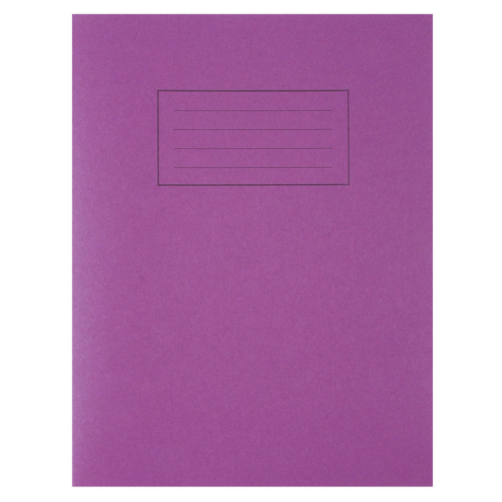 Silvine Exercise Book Ruled 229x178mm Various Colours