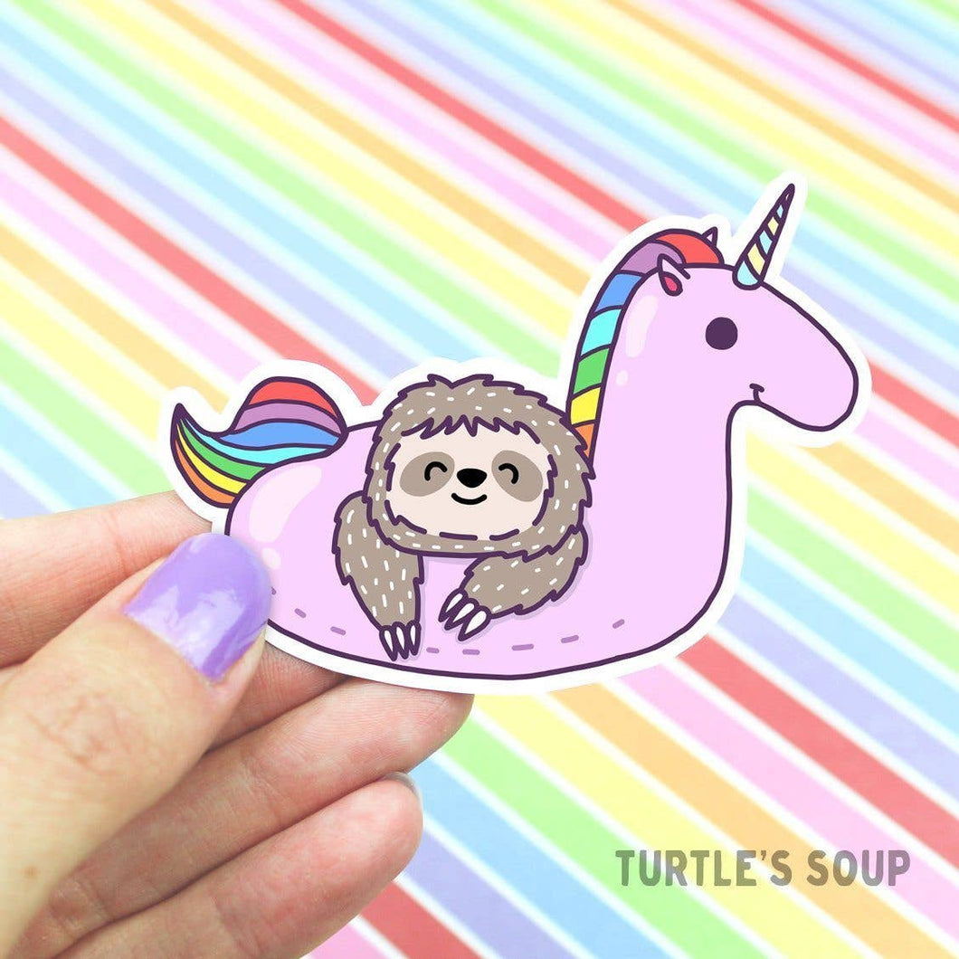 Sloth & Unicorn Sticker
