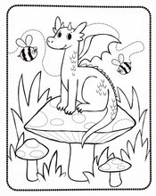 Load image into Gallery viewer, Color-in' Book : Knights & Dragons