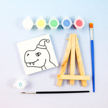 Load image into Gallery viewer, Dino Mini Painting Kit with Easel - Party Favor