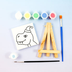 Dino Mini Painting Kit with Easel - Party Favor
