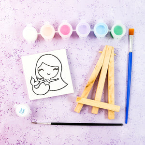 Mermaid Mini Painting Kit with Easel - Party Favor