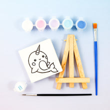 Load image into Gallery viewer, Narwhal Mini Painting Kit with Easel - Party Favor