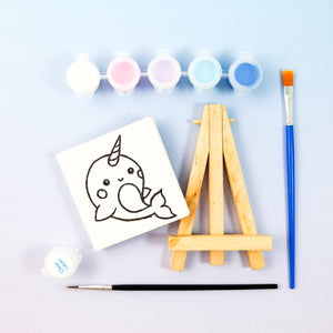 Narwhal Mini Painting Kit with Easel - Party Favor