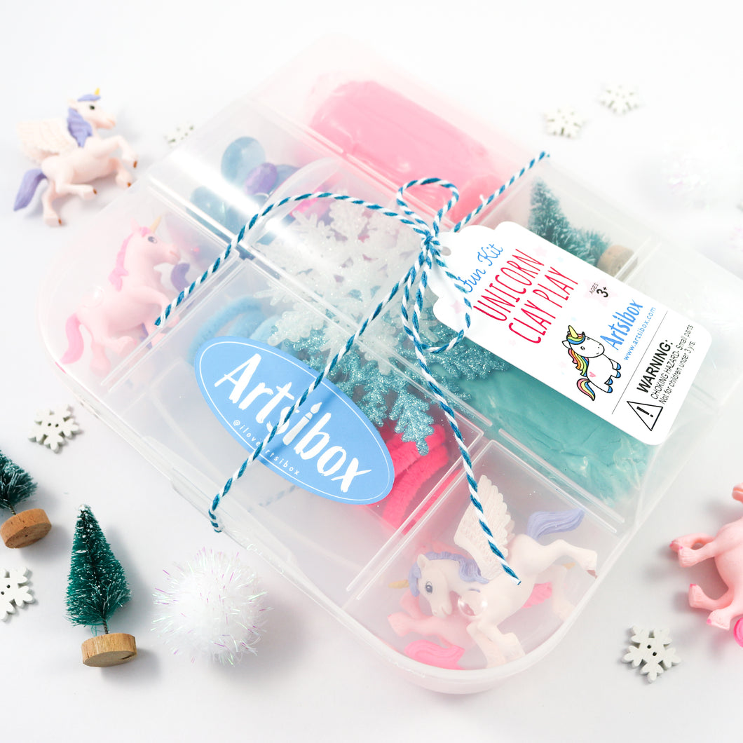 Winter Unicorn Sensory Box