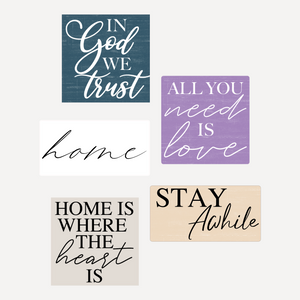 """Home"" Set of 5 Signs"