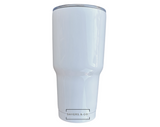 30 oz White SUBLIMATION Tumbler