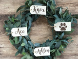 "Customizable Name Wood Stocking Tags 3""x6"""