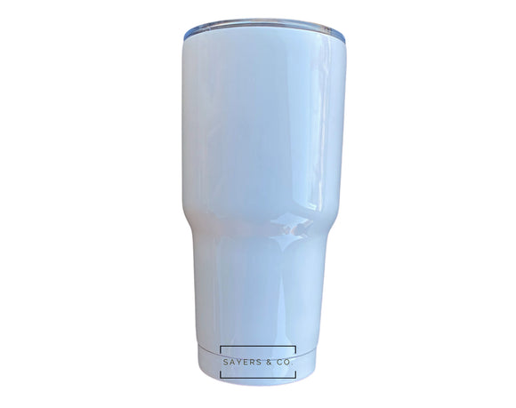 30 oz White SUBLIMATION Blank Stainless Steel Tumbler Water Bottle wholesale with straw
