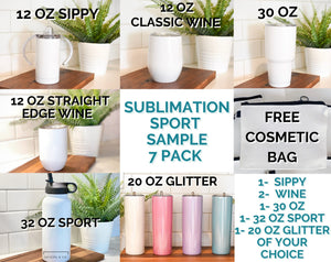 E SAMPLE 7 piece Sport Sublimation Pack