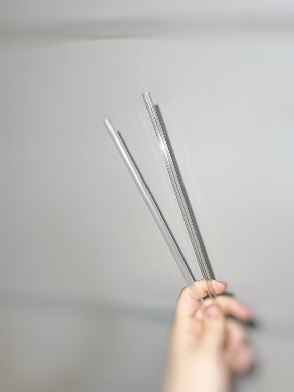 "10.5"" Clear Reusable colorless Straws, wholesale, Translucent, Cloudy bulk transparent plastic straw"