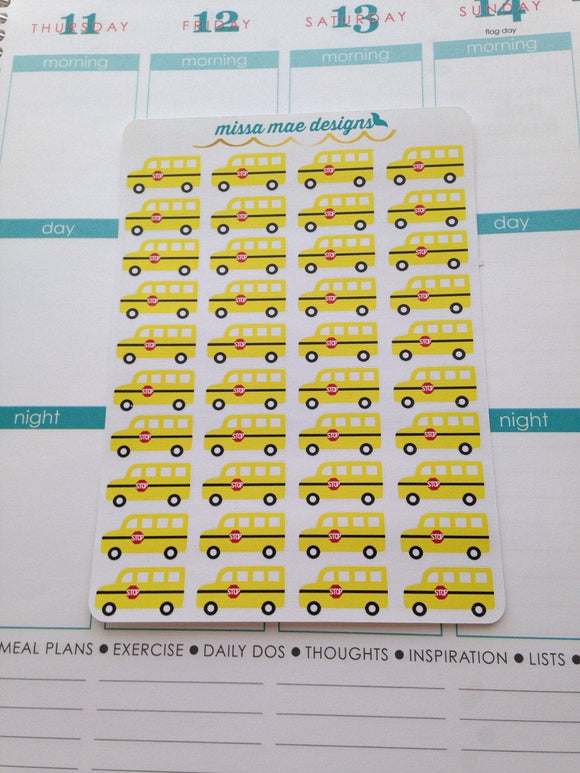 40 school bus stickers (#12)
