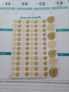 103 Gold martha stewart tear drops (#12)