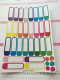 28 color block rounded  stickers (#13b)